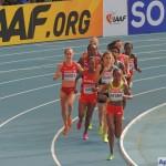 Забег на 5000 м среди женщин. 1 круг