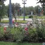 Чаша Олимпийского огня (Большой Олимпийский факел) на Аллее Славы в Лужниках