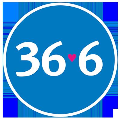 """Логотип аптеки """"36,6"""""""