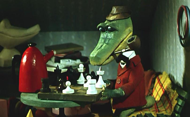 Крокодил Гена с трубкой