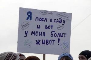 Митинг-пикет в Москве за изменение питания в столичных детсадах