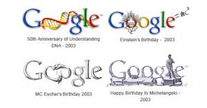 Google Doodles 2003