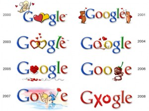 День. Св. Валентина на сайте Google