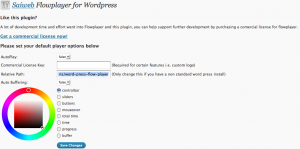 Flowplayer for WordPress
