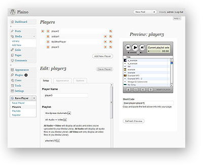 Wimpy Rave Player Plugin for WordPress