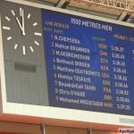 А вот и результаты забега на 1500 м среди мужчин