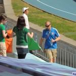 Болельщицы чемпиона из Ирландии с национальным флагом