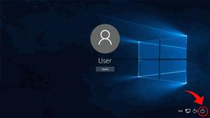 Окно ввода пароля для входа в Windows 10