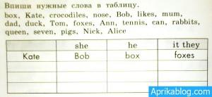 Задание в рабочей тетради по английскому языку