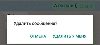 Старые сообщения в WhatsApp можно удалить только у себя
