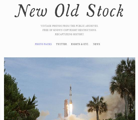 Скриншот сайта New Old Stock