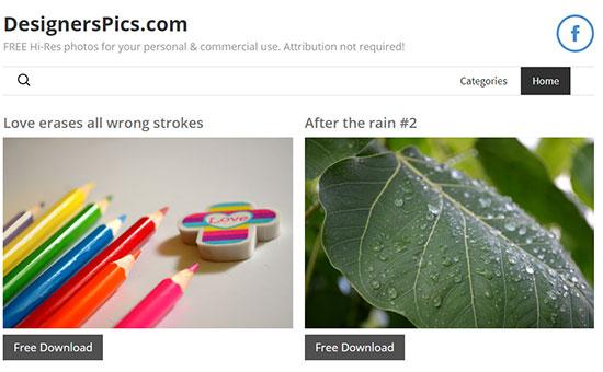 Скриншот сайта DesignsPics