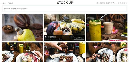Скриншот сайта Stock Up